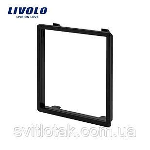Обідок розетки Livolo колір чорний (VL-DF101-12)