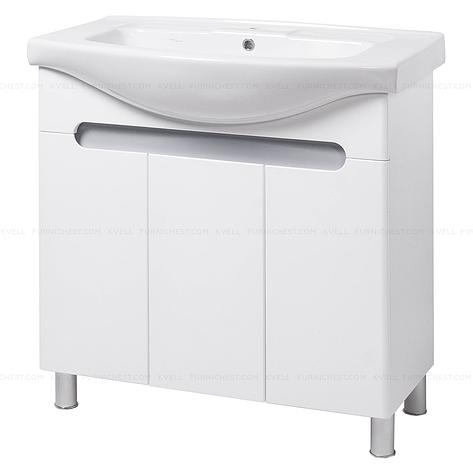 Тумба під раковину для ванної кімнати на ніжках ТЕМЗА Т17 (біла) під умивальник ІЗЕО 85, фото 2