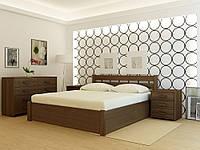 Кровать деревянная YASON Frankfurt PLUS с подъемным механизмом Венге (Массив Ольхи либо Ясеня)