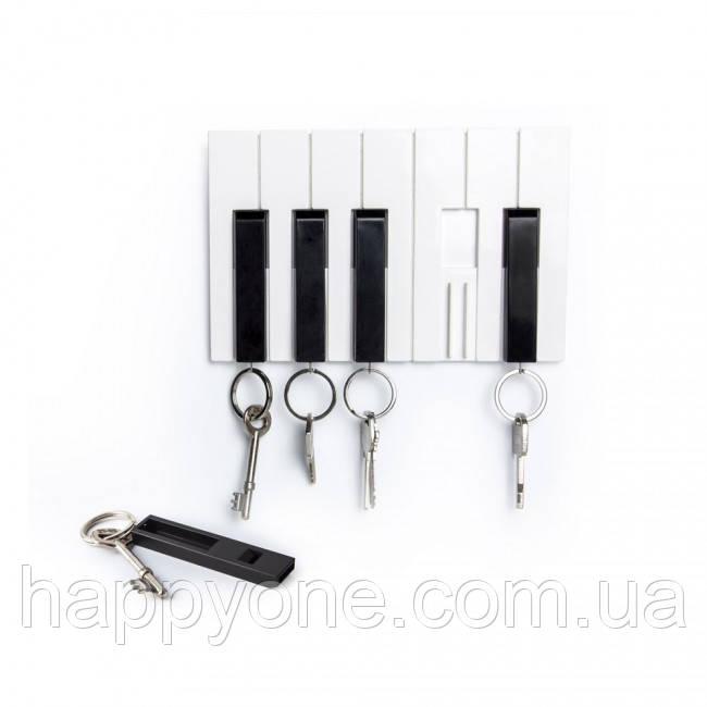 Настенная ключница и брелки для ключей Key Piano Qualy