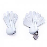 Ключница настенная Peacock Qualy (белый)