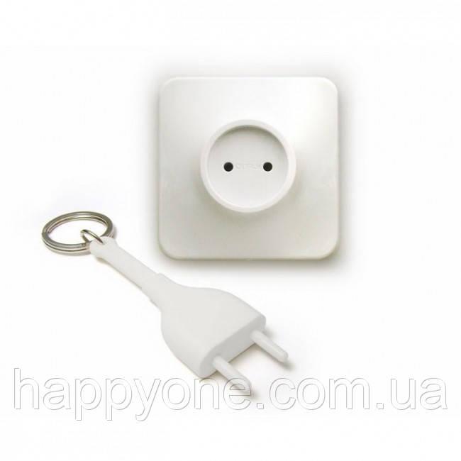 Ключница настенная и брелок для ключей Unplug Qualy (белый)