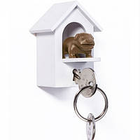 Ключница настенная и брелок для ключей Watch Dog Qualy (белый-коричневый)