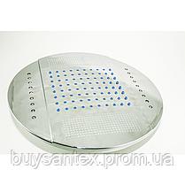 Лейка кругла, стельова, хромована, діаметром 250 мм. c підсвічуванням (L-250 ДК) в душову кабіну, фото 2
