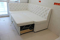 Кухонный диван со спальным местом (Белый)