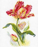 Набор для вышивки крестом Алиса 2-14 Тюльпан и бабочка