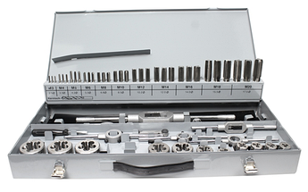 Набір ручних мітчиків і плашок DIN 352/223 M3-M20 GSR 56шт. GSR Німеччина