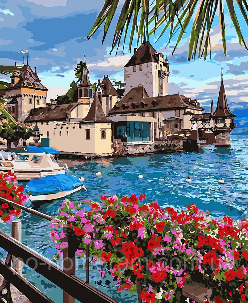 Раскраска для взрослых Чудесная Швейцария (KH2253) 40 х 50 ...
