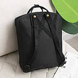 Стильный рюкзак сумка Fjallraven Kanken Classic канкен класик с отделением для ноутбука Черный + подарок, фото 4