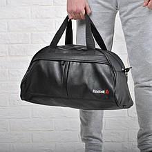 Фитнес-сумка рибок Reebok для тренировок Черная Кожзам ViPvse