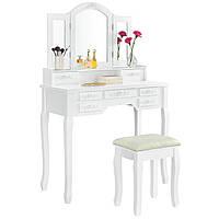Туалетный столик Эльза2 белый с зеркалом, фото 1