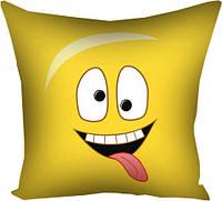 Подушка с принтом габардин 30x30, 40x40, 50x50 В детскую комнату - Smile (3P_SMP002)