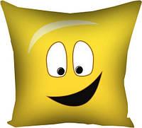 Подушка с принтом габардин 30x30, 40x40, 50x50 В детскую комнату - Smile (3P_SMP003)