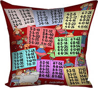 Подушка с принтом габардин 30x30, 40x40, 50x50 В детскую комнату - Учимся вместе (3P_MP054)
