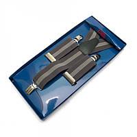 Подтяжки Y Образные Серые Gofin suspenders (Pu-0437)