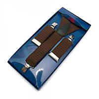 Подтяжки Y Образные Коричневый Gofin suspenders  (Pu-0452)