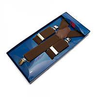 Подтяжки Y Образные Коричневые Gofin suspenders