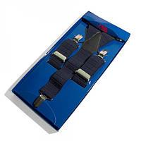 Подтяжки Y Образные Темно-синие Gofin suspenders (Pu-0477)
