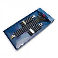 Подтяжки Y Образные Темно-синие Gofin suspenders (Pu-0496)