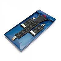 Подтяжки Y Образные Черные Gofin suspenders (Pu-0501)
