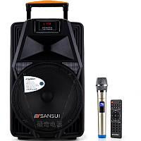 Акустика портативная с микрофоном SANSUI SS2-12 / 160W (USB/Bluetooth/AUX)