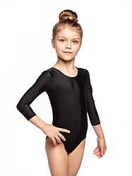 Детский купальник для гимнастики и танцев бифлекс Черный