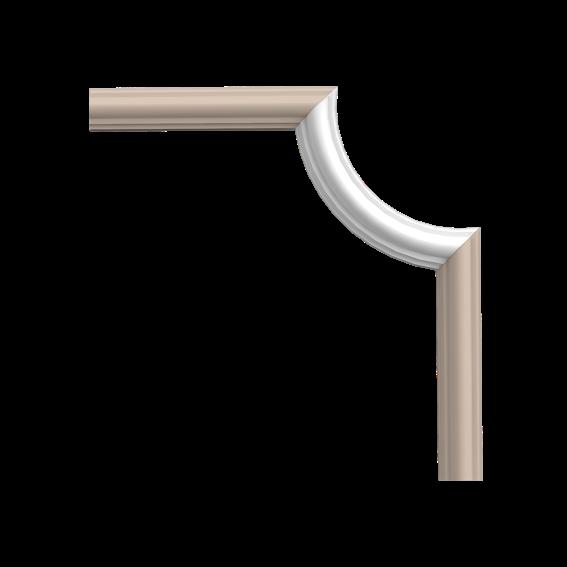 Угловой элемент Orac Axxent  PX120A, (19*8.8*2см), лепной декор из дюрополимера