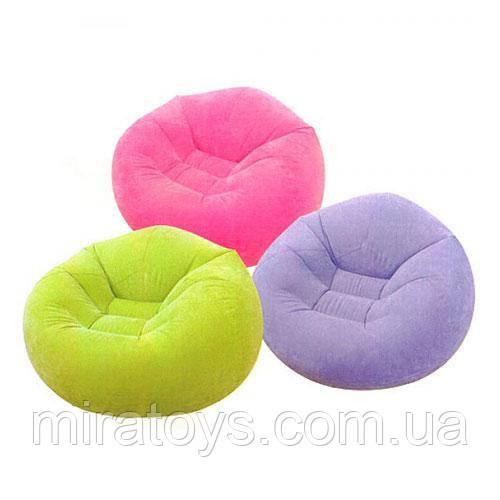 ✅Надувное кресло Intex 68569, 107 х 104 х 69 см, три цвета