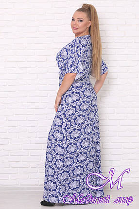 Длинное летнее платье большого размера (р. 42-90) арт. Орхидея, фото 2