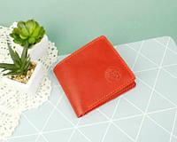 Жіночий гаманець з натуральної шкіри Ройовий червоний
