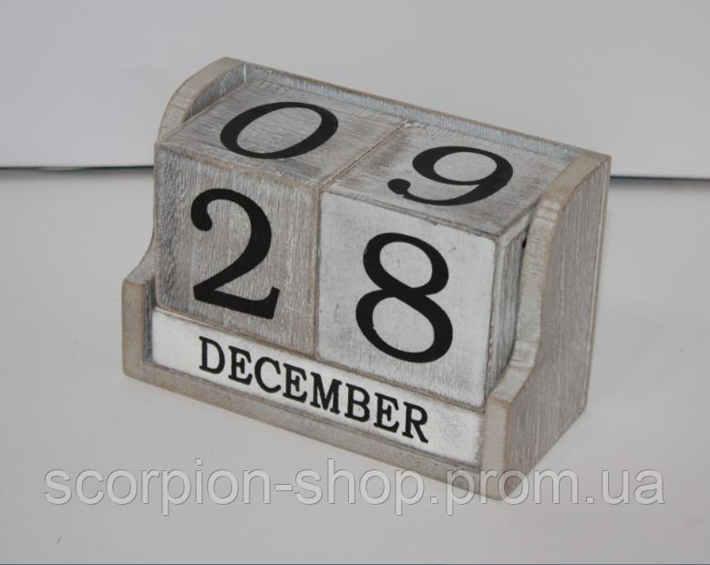 Вечный календарь в стиле шебби-шик (14*6,5*10 см)
