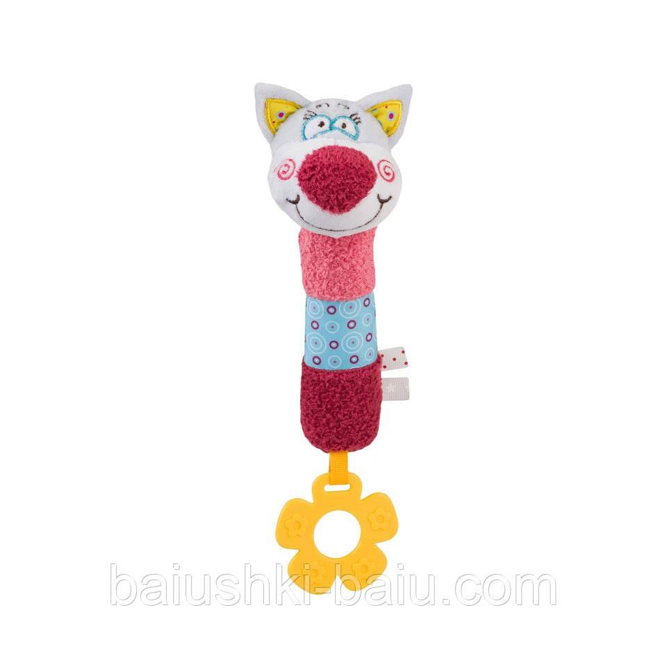 Мягкая игрушка пищалка с прорезывателем Oliver, Польша