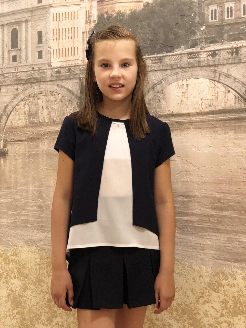 Блузка для девочки короткий рукав р.122-158