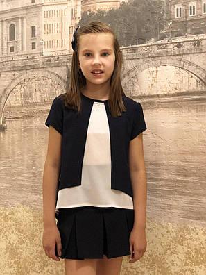 Блузка для девочки короткий рукав р.122-158, фото 2