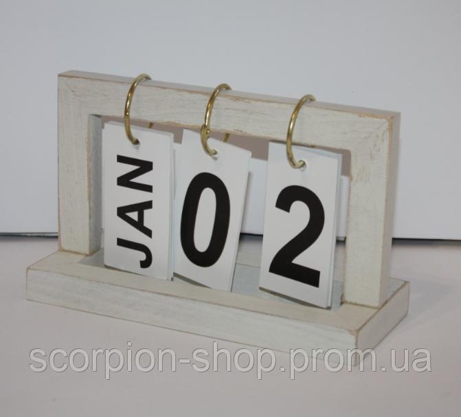"""Вечный календарь перекидной """"Шебби-шик"""" (8,5*12*20 см)"""