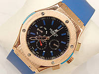 Мужские механические наручные часы Hublot Big Bang, Blue, фото 1