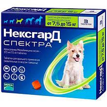 Таблетки від бліх, кліщів та гельмінтів NexGard Spectra 7.5-15 кг (M)