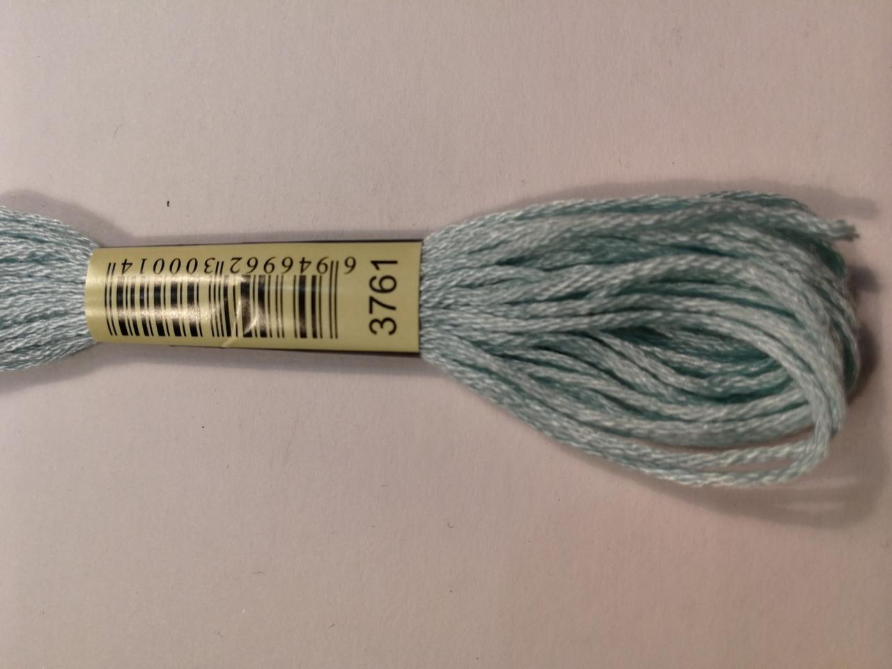 Мулине СХС 3761 голубой небесный светлый
