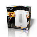 Электрочайник пластиковый Adler AD 1264 white 1,7 литр, фото 6
