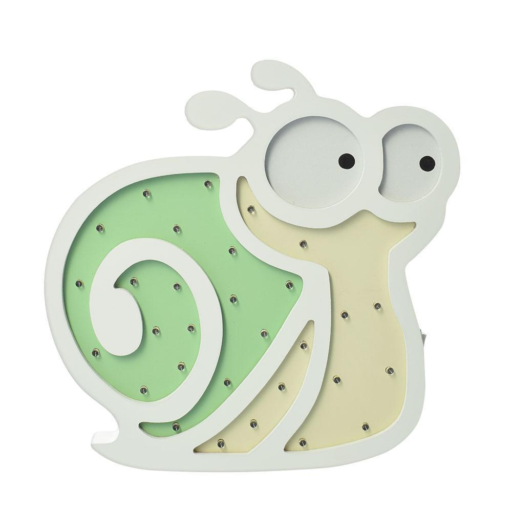 Деревянная игрушка Ночник MD 2077S(Green) (Улитка/Зелёный)