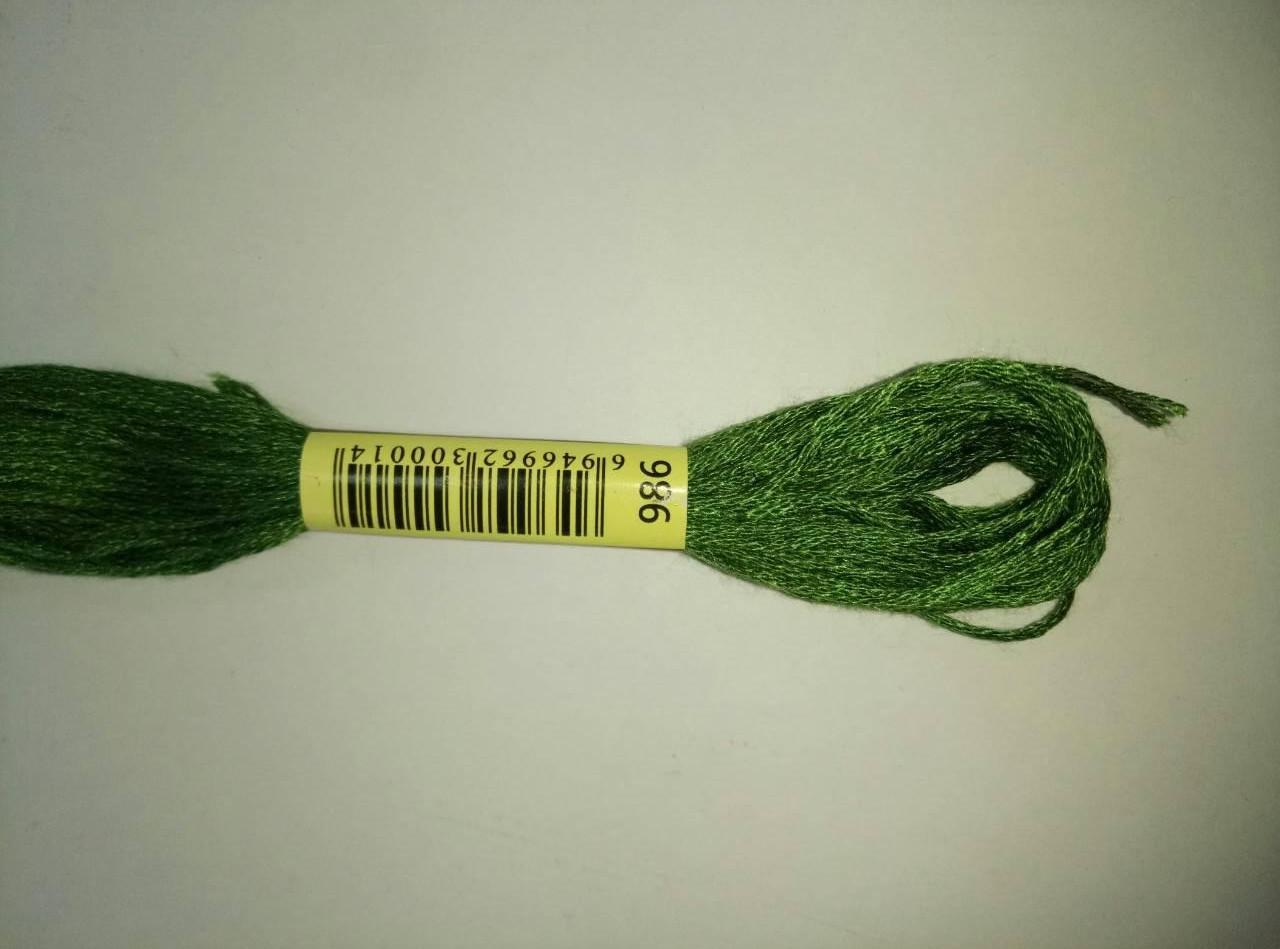 Мулине СХС 986 зеленый лесной очень темный