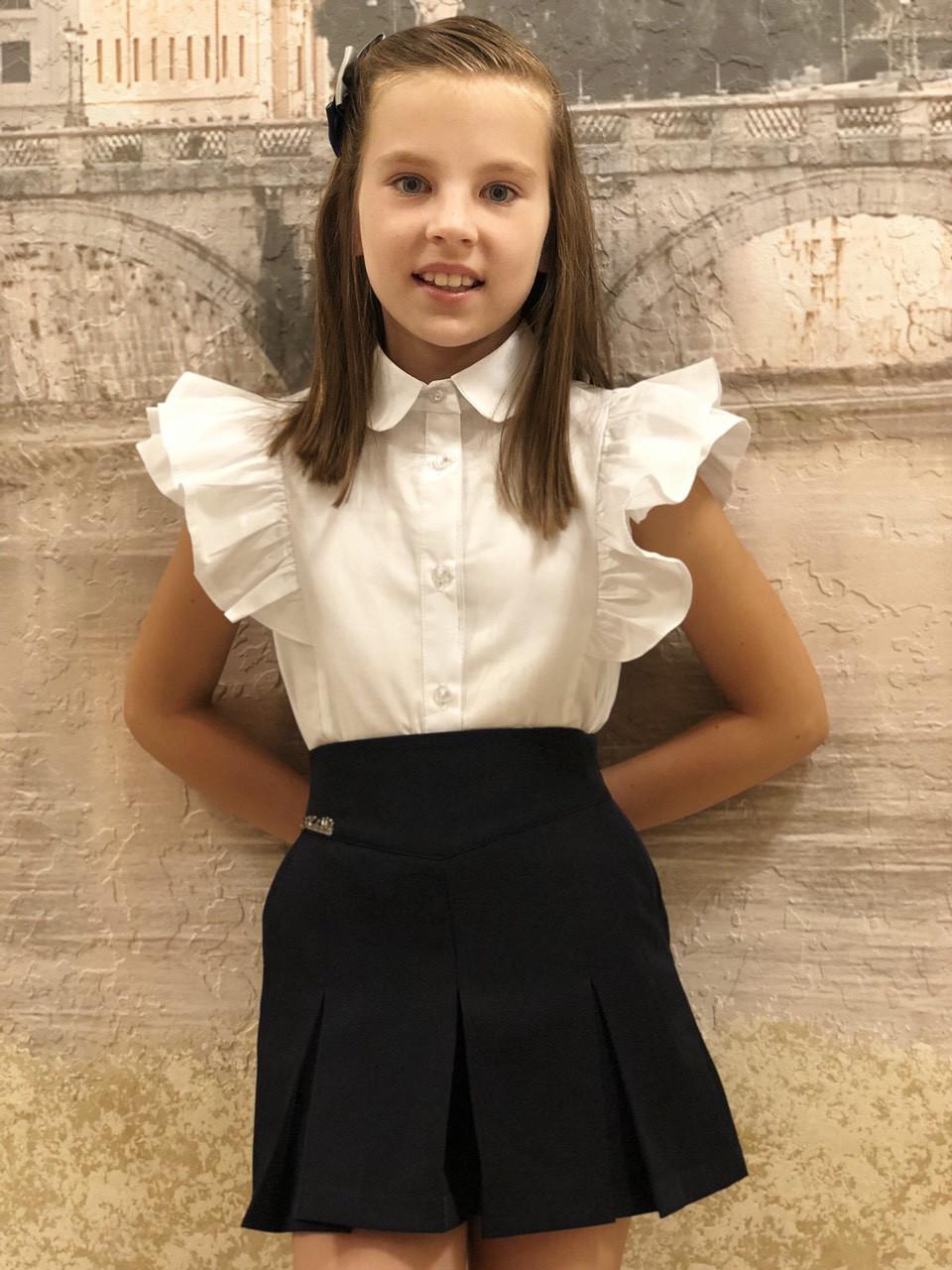 Блузка для девочки в школу  р.122-152 опт