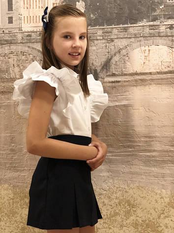 Блузка для девочки в школу  р.122-152 опт, фото 2