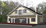 Готовый проект гостевого дома с бассейном Г1