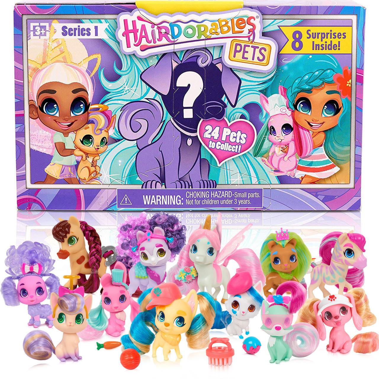 Питомцы Хэрдораблс зверюшки Петс сюрприз США Hairdorables Pets Set