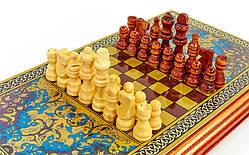 Шахматы и нарды деревянные 2 в 1 BAKU (р-р доски 42см x 46см)