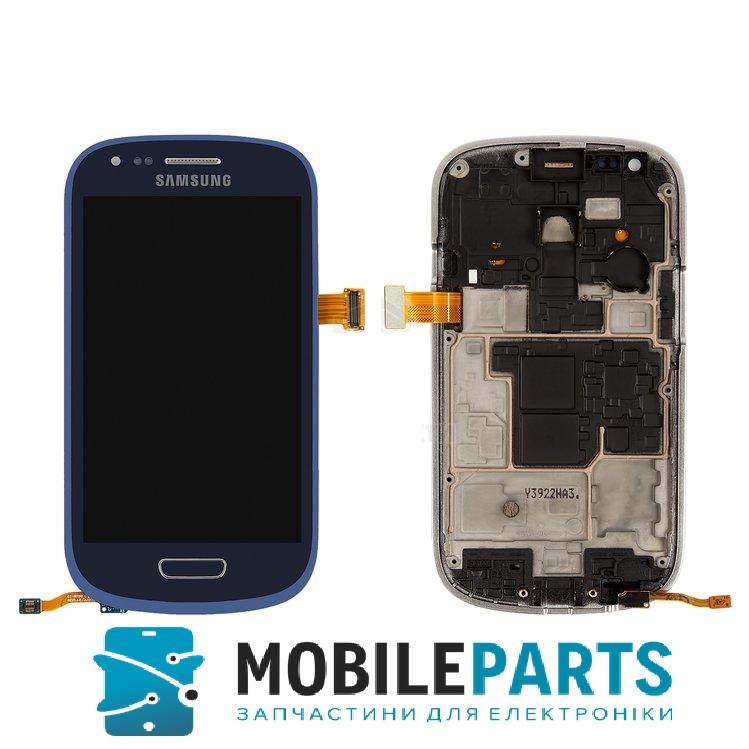 Дисплей для Samsung i8190 | Galaxy S3 Mini с сенсорным стеклом в рамке (Синий) Оригинал Китай