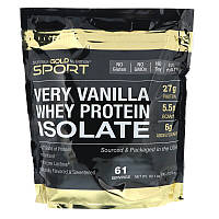 "Изолят сывороточного протеина California GOLD Nutrition, SPORT ""Whey Protein Isolate"" вкус ванили (2270 г)"
