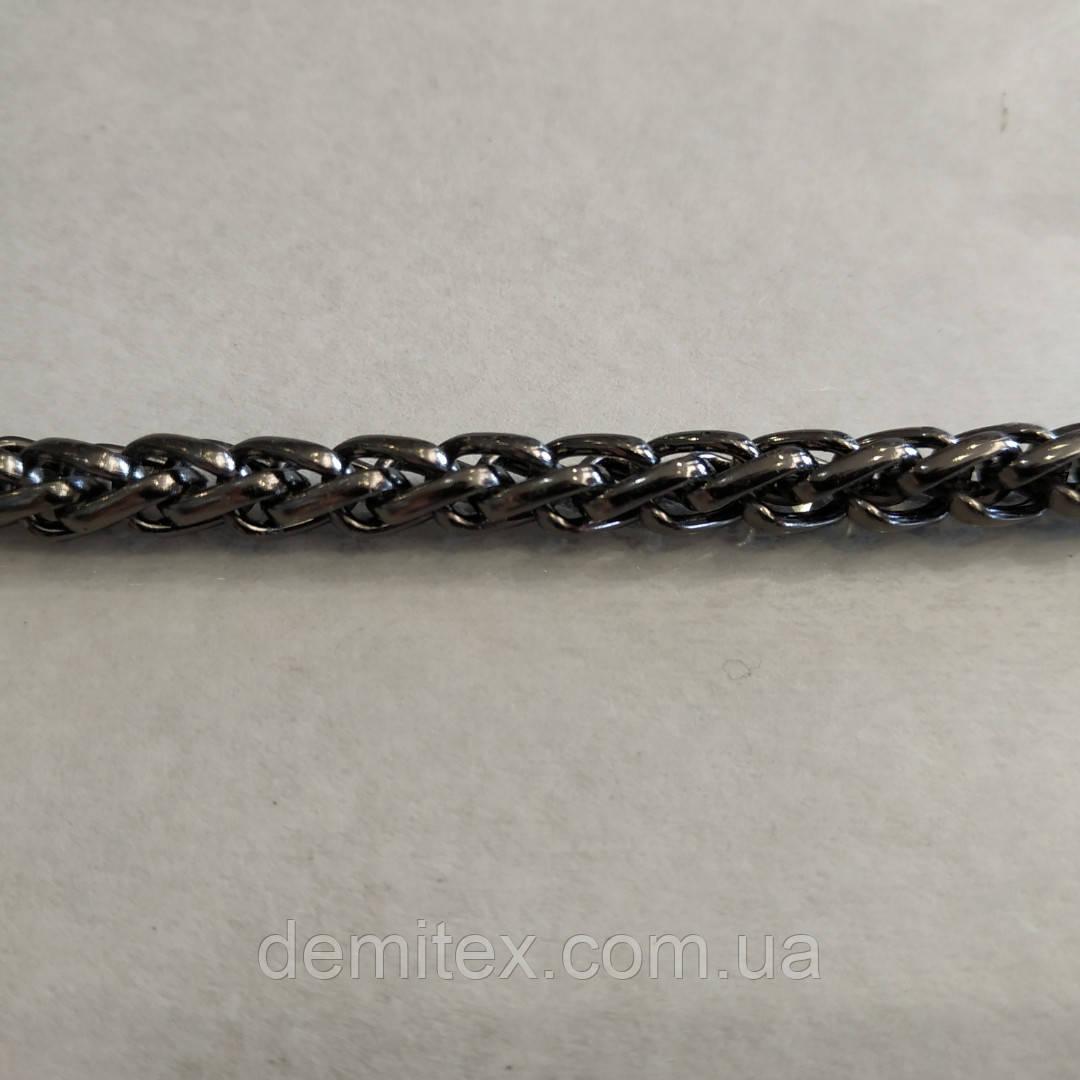 Цепочка металлическая Фурла толщина 5,3мм черный никель