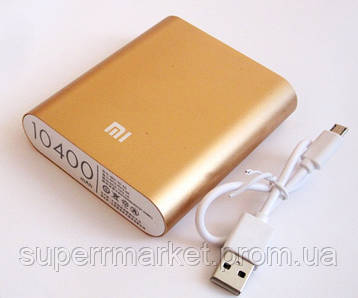 Универсальная батарея - Xiaomi power bank MI 4, 10400 mAh, gold, фото 2